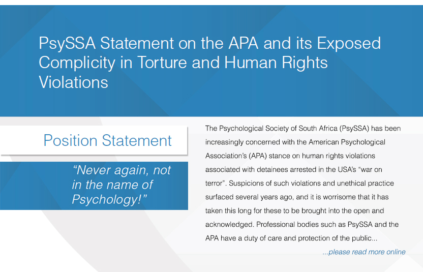 PsySSA position statement on APA