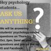 PsySSA Student Division - Psychology Live Q&A