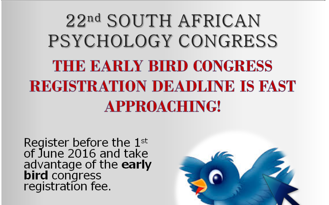 The Early Bird Congress Registration Deadline is Fast Approaching