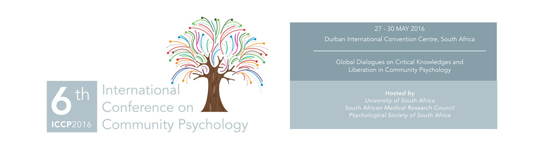 6th International Conference on Community Psychology 27 – 31 May 2016