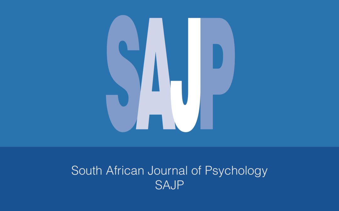 South African Journal of Psychology: Special section… Call for Papers