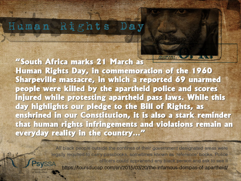 Human Rights Day 2020: In remembrance of the 1960 Sharpeville massacre