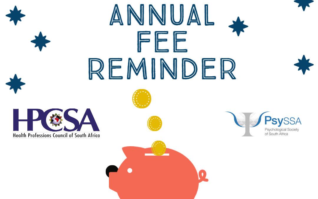 HPCSA Annual Fee Reminder 2020