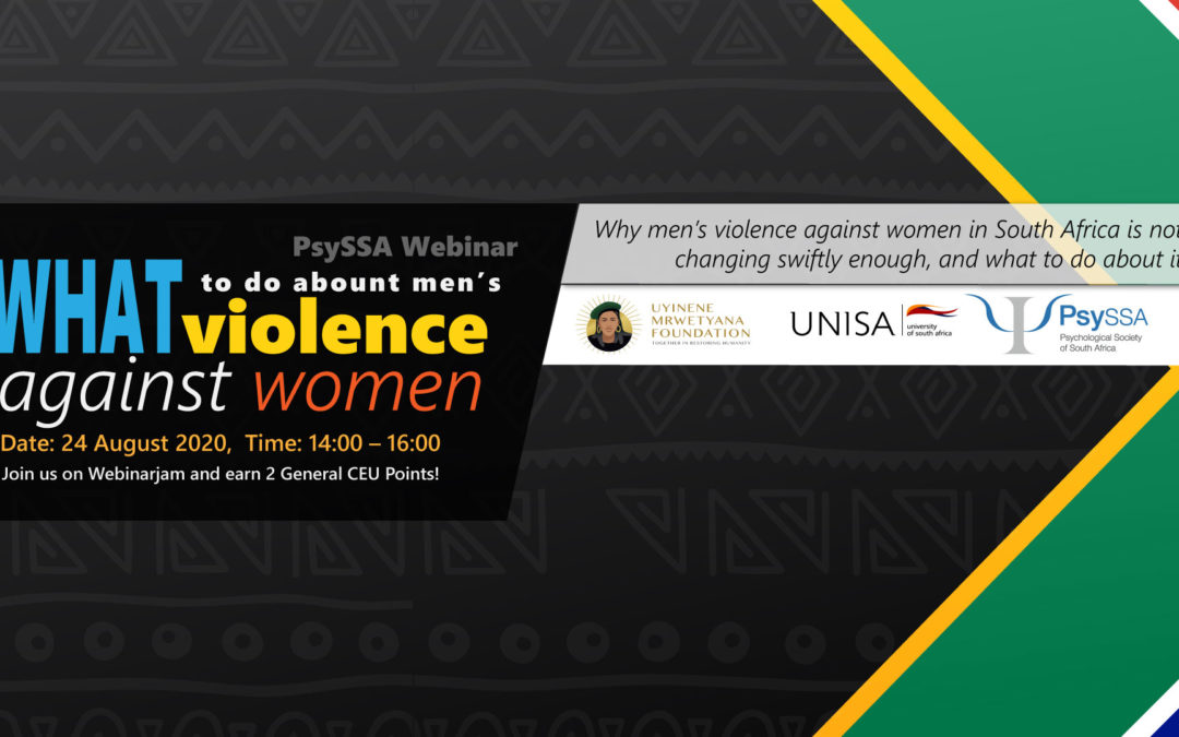 Why Men's Violence Against Women in South Africa is Not Changing Swiftly Enough, and What To Do About It – Meet our Respondents