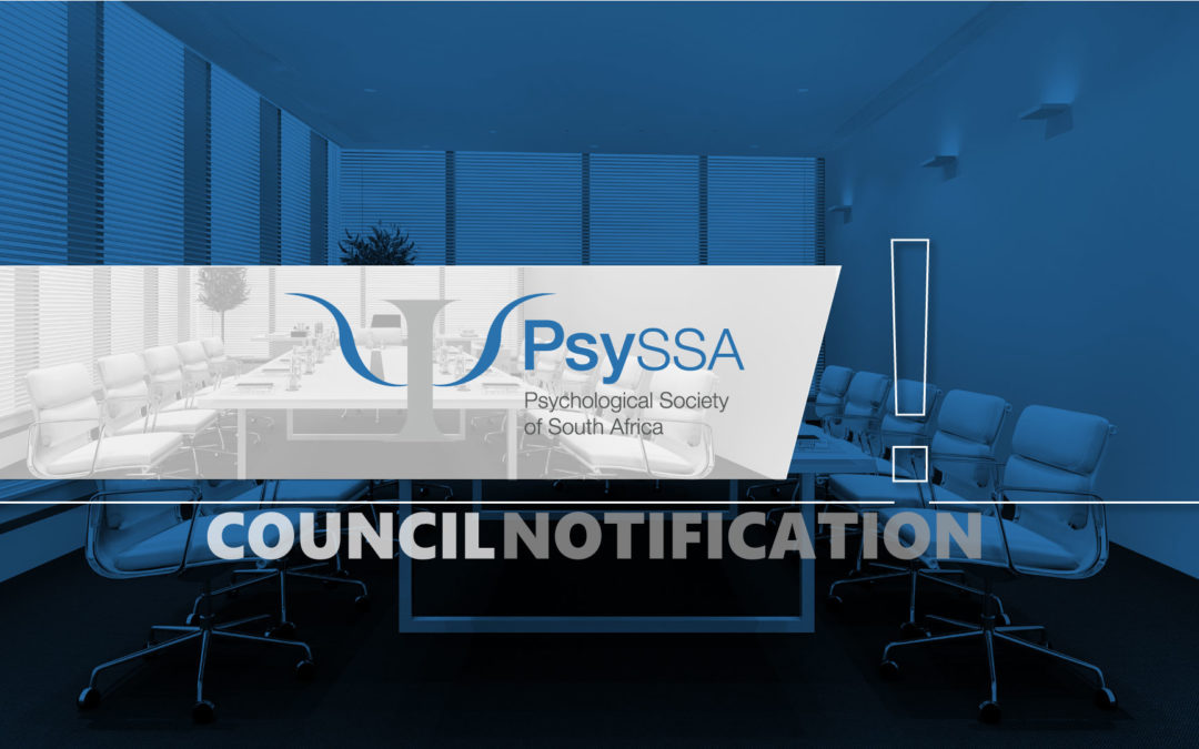 Communiqué from PsySSA Council