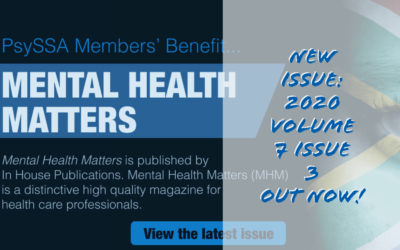 Mental Health Matters –  Issue 3 Volume 7 2020, Out Now!