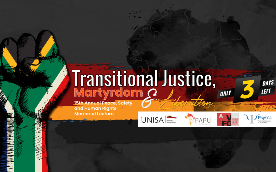 3 Days to Go! Transitional Justice, Martyrdom and Liberation: Meet our Panelists!