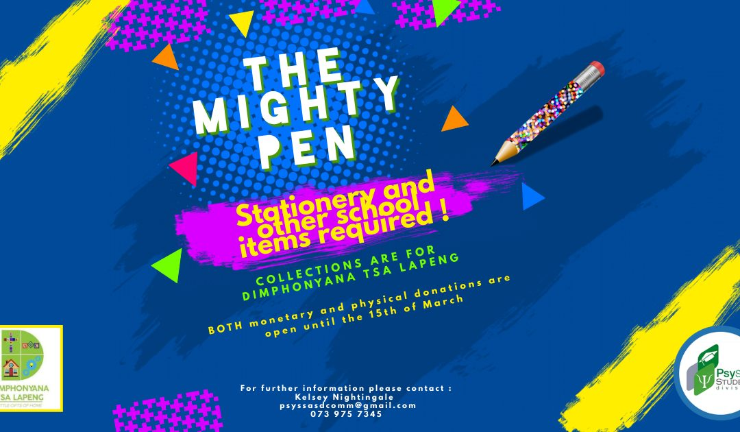 The Mighty Pen – A PsySSA Student Division Initiative