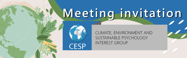 Climate, Environment, and Sustainable Psychology' (CESP) PsySSA Interest Group – Meeting Invite