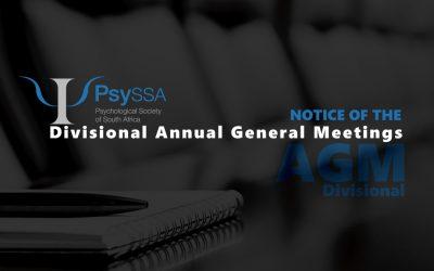 Divisional Annual General Meetings of PsySSA