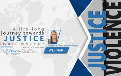 PsySSA Webinar: A life-long journey towards justice, inspired by violence